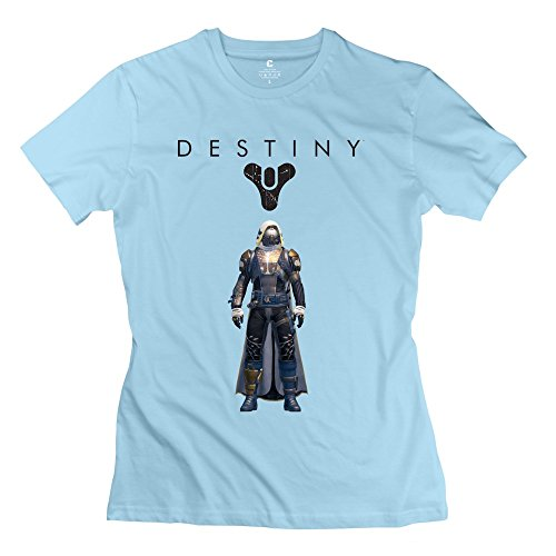 Woman Destiny Hunter Personalized Cool SkyBlue T-Shirt By Mjensen