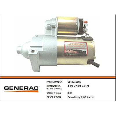 Generac - DELCO REMY SD80 STARTER: Automotive
