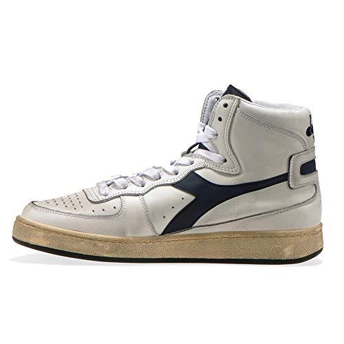 Heritage Unisex Adulto Pelle Bianco 43 Basket EU Mi Sneakers Used Diadora ASUZqBw