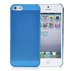 HOR Negro delgada cristalina broche de presión en la piel cubierta de la caja dura para Apple iPhone 5 , Púrpula