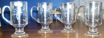 PRINCESS HOUSE SET OF 4 CRYSTAL BEVERAGE MUGS