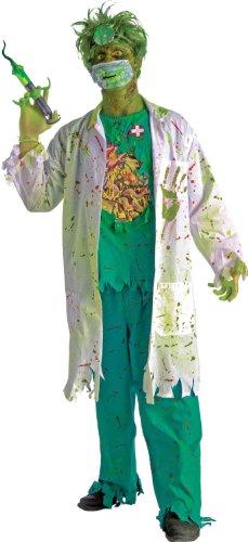 [Forum Novelties Men's Biohazard Zombie Surgeon Costume, Multi, Standard] (Mad Doctor Halloween Costume)