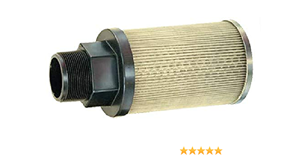 60 Mesh Size 3//4 Female NPT 3 PSI Relief Valve Flow Ezy Filters 5 GPM P5 3//4 60 RV3 Suction Strainer with Nylon Connector End Inc