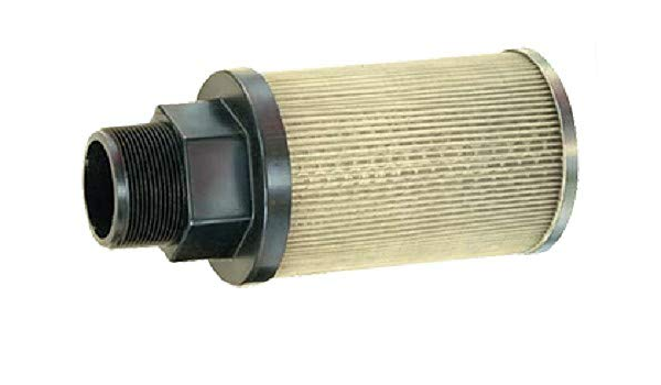 100 Mesh Size 1 Female NPT Inc P20 1 100 AL Suction Strainer with Nylon Connector End Flow Ezy Filters 20 GPM Aluminum Support Tube and End Cap 1 Female NPT