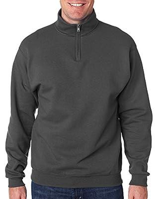 Jerzees Men's NuBlend 1/4 Zip Cadet Collar Sweatshirt