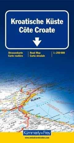Kroatische Küste/Istrien/Dalmatien 1 : 250 000. Straßenkarte: Mit touristischen Informationen.