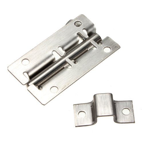 Water & Wood Stainless Steel Door Latch Slide Barrel Bolt Latch Gate Lock Safety Hardware 50mm Length