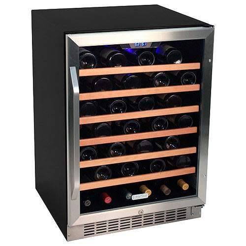 EdgeStar CWR531SZ 24 Inch Wide 53 Bottle Built-In Wine Cooler - Stainless Steel/Black