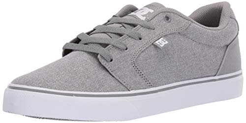 DC Men's Anvil TX SE Skate Shoe, Light Grey, 7.5 M US