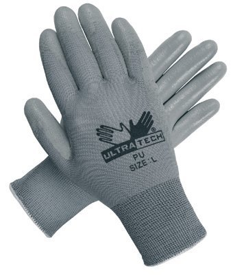 Memphis Glove - UltraTech PU? Coated Gloves Ultra Tech Gray Pu Palmnylon 13 Gauge - Sold as 12 Pair