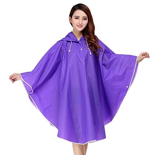 LifeWheel Women & Girl Fashion EVA Outdoor Cycling Bicycle Raincoat Waterproof Hooded Rain Jacket Portable Rain Poncho