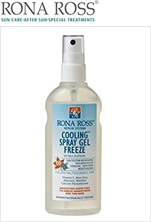 Rona Ross Cooling Spray Gel Freeze For Face And Body 160ml Amazon