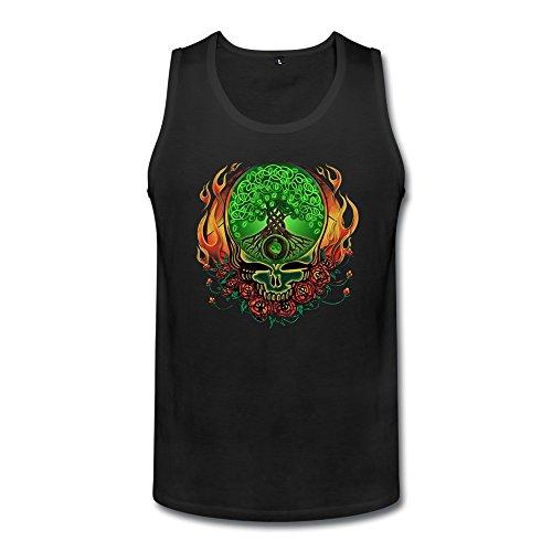 [QMY Men's Grateful Dead Celtic Knot Tree Of Life Tank Top Size M] (Grateful Dead Celtic Knot)