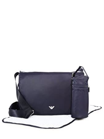 1826bacac04e Amazon.com   Armani Junior Nylon Diaper Bag (Navy)   Baby
