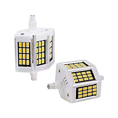 MD Lighting R7S 78mm 5W R7S LED Bulb Double Ended R7s Corn Light Bulbs(2 Pack)- 36 LEDs R7s Floodlight 500LM Daylight White 6000K J Type Double Ended 50W R7S Halogen Bulb Replacement,AC110-130V