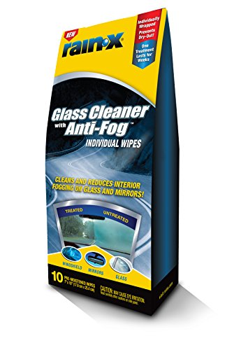 rain x 630040 glass cleaner with anti fog wipes. Black Bedroom Furniture Sets. Home Design Ideas