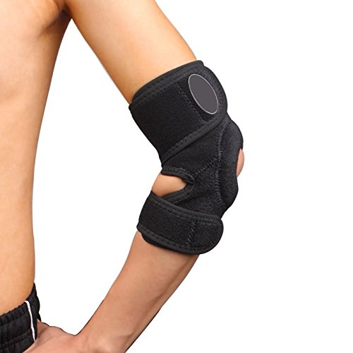 (Rhegeneshop Free Size Ball Sport Open Adjustable Hinged Elbow Support Brace Lint-Free Climb)