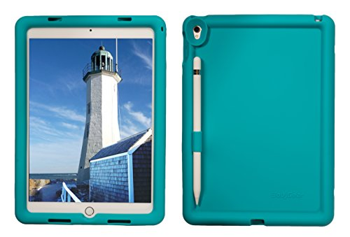 BobjGear Bobj Rugged Case for iPad Pro 9.7 (2016), (Not for 2017 iPad Pro 10.5) Custom Fit - Patented Venting - Sound Amplification - BobjBounces Kid Friendly (Terrific Turquoise)