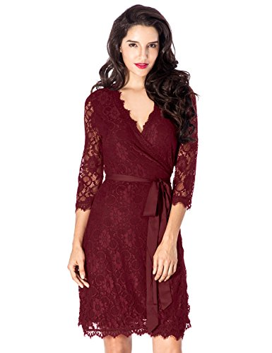Lace Wrap Dress - 1