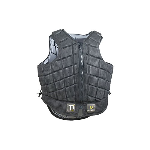 Champion Titanium Ti22 Body Protector Medium - Short Black with Titanium Lining