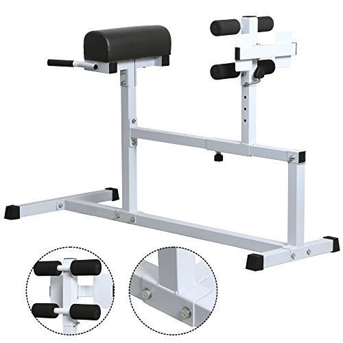 Yaheetech Heavy Duty Adjustable Back Hyperextension Bench, Roman Chair, 440  Lb Capacity