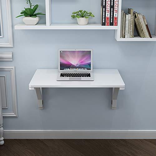Vit väggmonterad droppblad bord trä fällbart bord vikbord konvertibel skrivbord massivt trä bord kök matbord