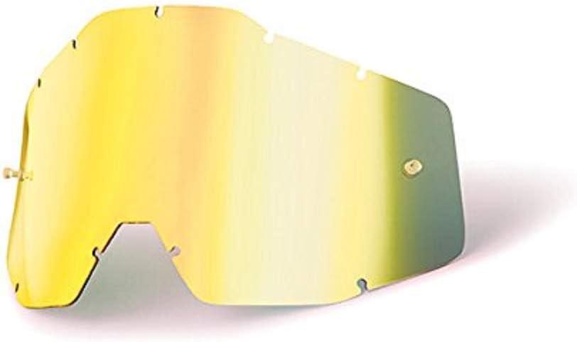 Compatible con Racecraft Accuri y Strata Pantalla Para Gafas de Buceo Dorado Talla /Única Mx 100 Percent Racecraft