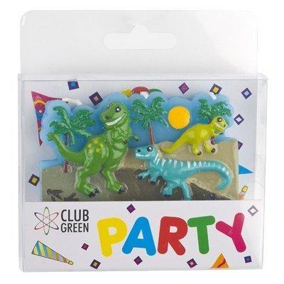 Club Verde Dinosaurio Candle Stick, Verde, 12 Unidades ...