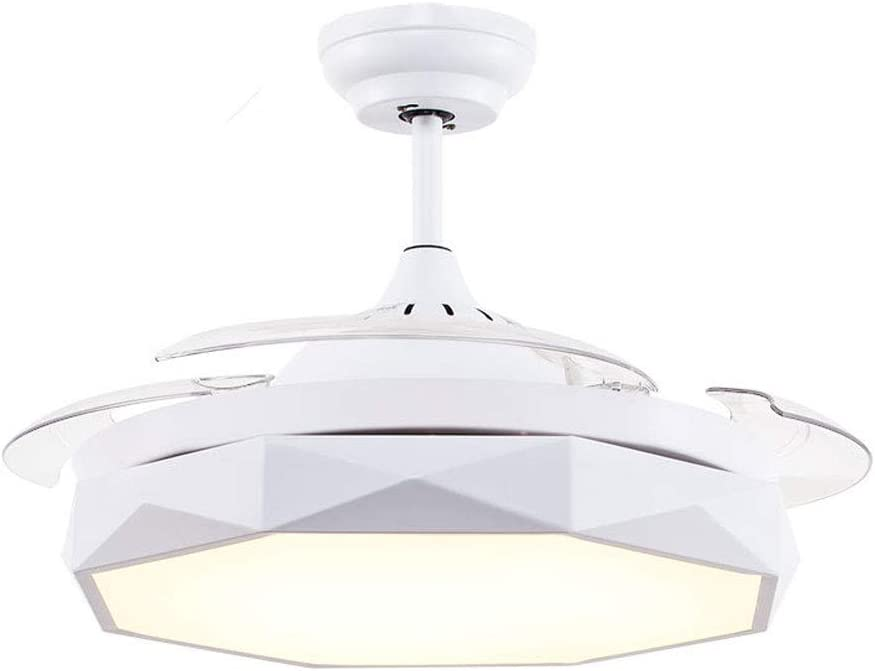 Ventilador de Techo de 42 Pulgadas con Luz LED, 25W Lámpara de ...