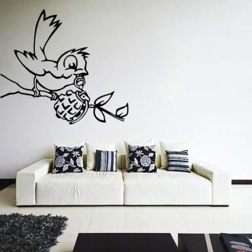 mmzki Banksy Tatuajes de Pared con Granada, Deco Art Vinyl Sticker ...
