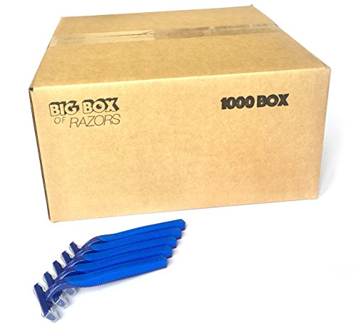 1,000 Box of Bulk Wholesale Disposable Twin Blade Razors for Men and Women by Big Box of Razors