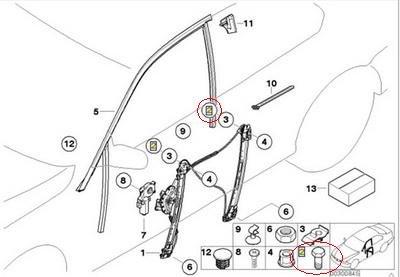 4 x BMW Genuine Window Regulator Hex Bolt for 328i 335i M3 328xi 335xi 335is X5 3.0i 4.4I 4.6is 4.8is 320i 323i 325i 325xi 330i 330xi