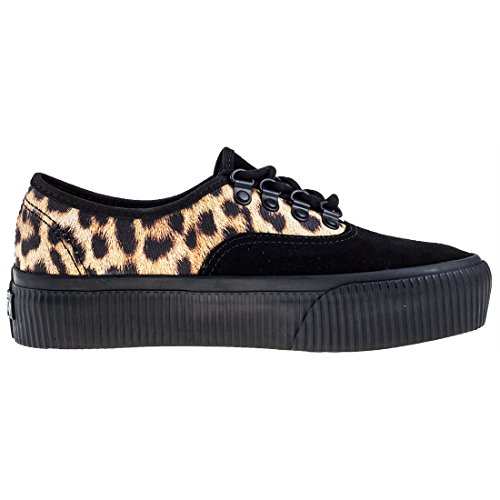 Platform Leopard Embossed Vans Black Authentic Chaussures Black qxEBwFnwZ