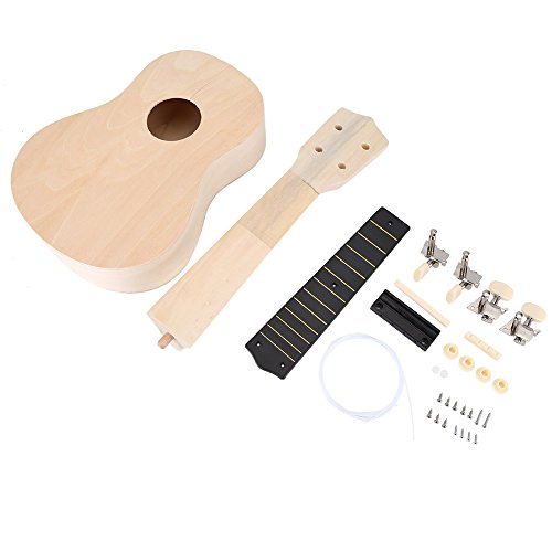 Make Your Own Hawaii Ukulele DIY Ukelele Kit Concert Ukulele for Beginner, Kids, Children, Amateur and even serious…