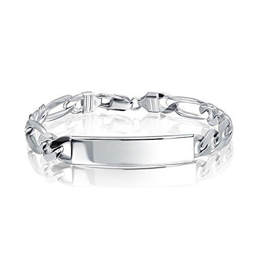 Silver Id Bracelet - 9