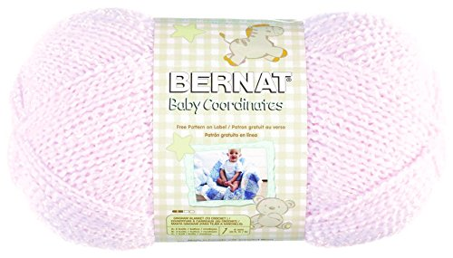 Bernat  Baby Coordinates Solids Yarn - (3) Light Gauge  - 5oz -   Pink  -  Machine Wash & Dry - Bernat Pink Knitting Yarn