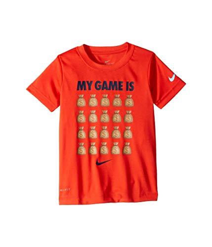 Nike Kids Boy's My Game is Money Short Sleeve T-Shirt (Little Kids) Habanero Red 4 Little Kids