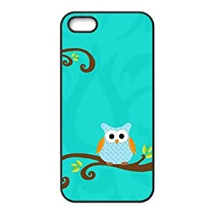 Cute Tree Owl Cartoon lovely blue background personalized creative custom protective phone case for Iphone ipod touch4 by icecream design