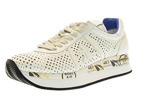 PREMIATA mujeres bajas zapatillas de deporte CONNY 1217E talla 38 Color blanco