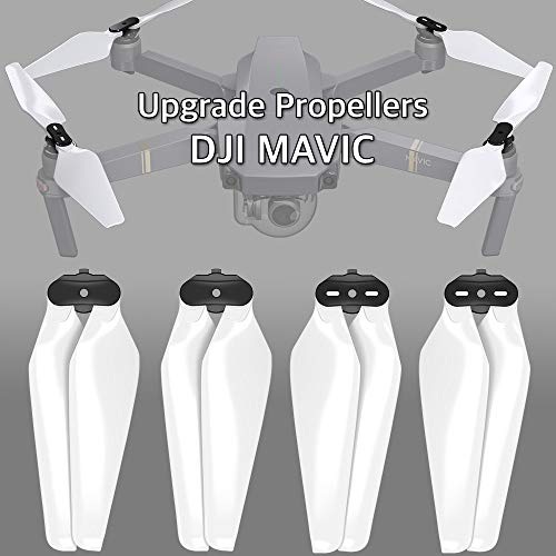 MAS Upgrade Propellers for DJI Mavic Pro & Pro Platinum in White – x4 in Set