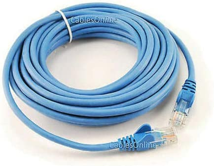 Blue 25ft 5-Pack Cat5e Network UTP Ethernet RJ45 Full 8-Wire Patch Cable