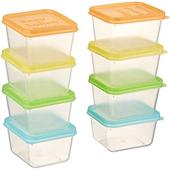 EasyLunchboxes Mini Dippers Small Dip, Condiment, Or Sauce Containers,  Leak Resistant,