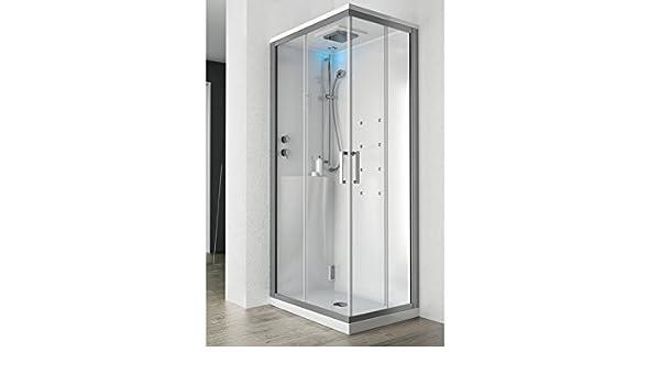 Colacril Multipla cabina de ducha hidromasaje MTP9090CH50: Amazon ...