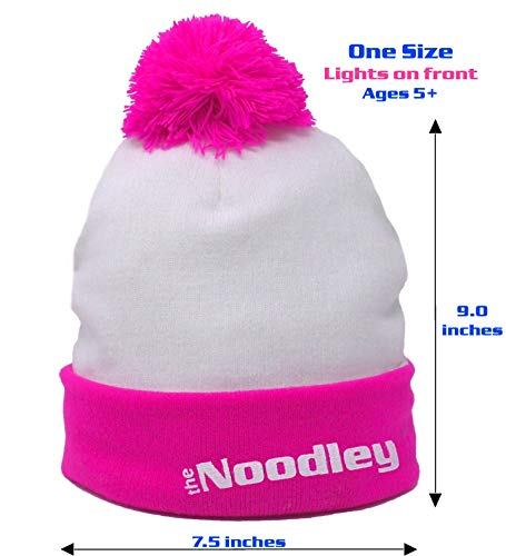 The-Noodley-LED-Light-UP-Beanie-Hat-PinkWhite-Kids-and-Teens-One-Size-Light-Up-Hat