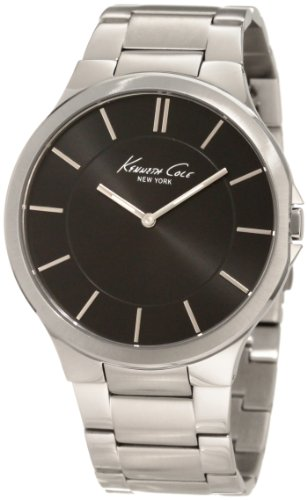 Kenneth Cole New York Men's KC9106 Slim Black Dial 3-Hand Watch