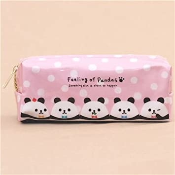 Lindo bolso estuche lápices rosa lunares blancos gracioso panda de Japón: Amazon.es: Juguetes y juegos