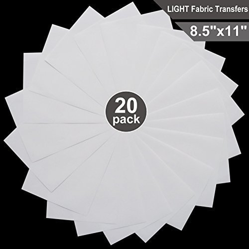 T-Shirt Transfers for Inkjet Printers for Light-Colored, 8.5
