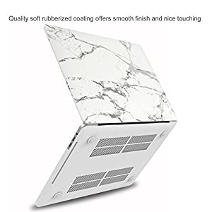 "MacBook Pro 15 Case 2017 & 2016 A1707, ProCase Hard Case Shell Cover and Keyboard Cover for Apple Macbook Pro 15"" (2017 & 2016 Release) with Touch Bar and Touch ID -White Marble Pattern"