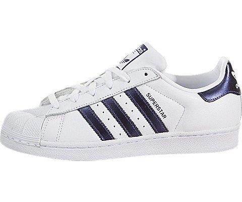Adidas Star - adidas Originals Women's Superstar W Running Shoe, Purple Night/White, 6.5 M US