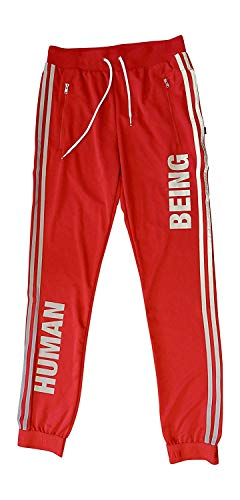 adidas X Pharrell Williams Human Race Track Pants Joggers (XL, red BK4290) ()